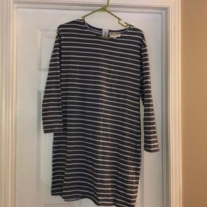 Striped Casual Blue and White Stripes Dress